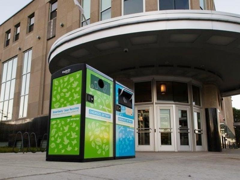 DTE Energy adds solar trash compactors in downtown Detroit