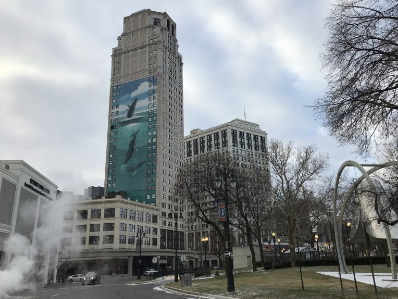 Detroit zoning board makes whale of a reversal on Broderick Tower ad
