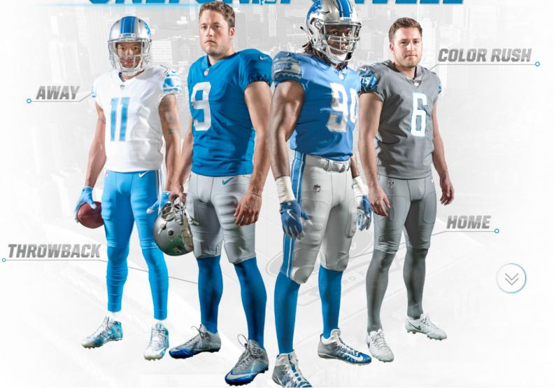 detroit lions color rush jerseys for sale